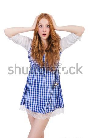 Nő visel ruházat fehér szexi divat Stock fotó © Elnur