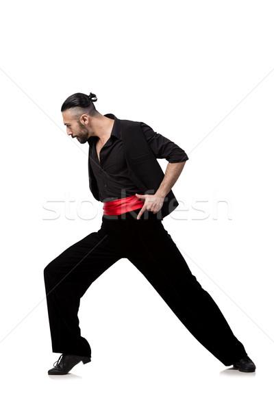 Człowiek tancerz taniec hiszpanski odizolowany biały człowiek Zdjęcia stock © Elnur