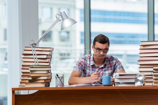 Young student preparing for college exams Stock photo © Elnur