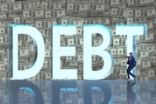 Empresário dívida negócio dinheiro homem banco Foto stock © Elnur