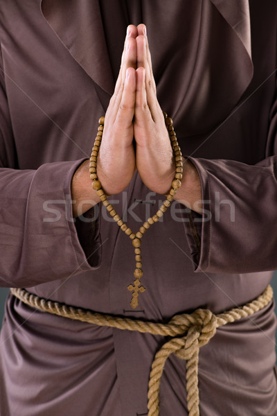 The monk in religious concept on gray background Stock photo © Elnur