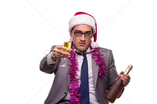 Photo stock: Jeunes · affaires · célébrer · Noël · bureau · affaires