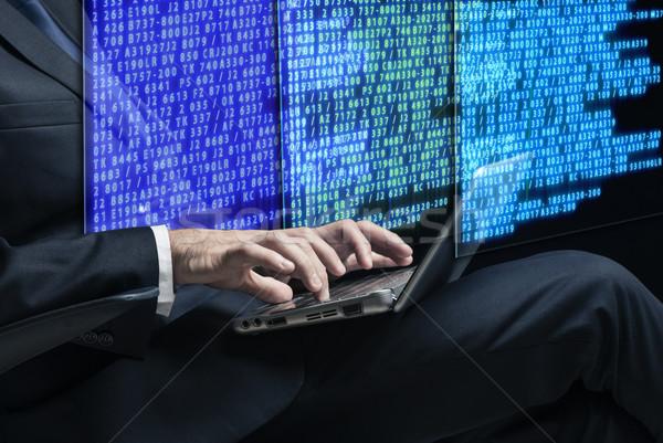 Hacker dijital güvenlik bilgisayar dizüstü bilgisayar ağ Stok fotoğraf © Elnur