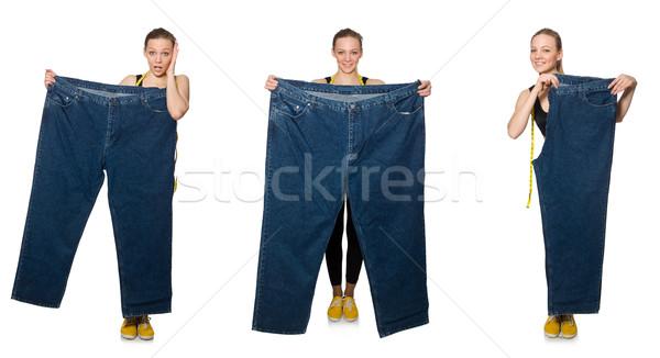 összetett fotó nő diétázás lány boldog Stock fotó © Elnur