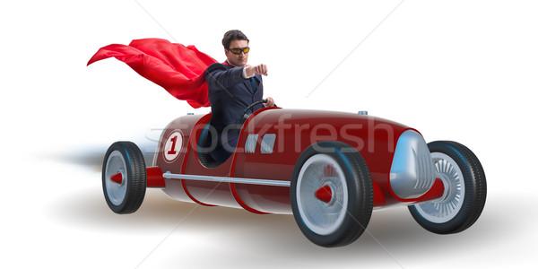 Zakenman rijden vintage roadster sport Stockfoto © Elnur