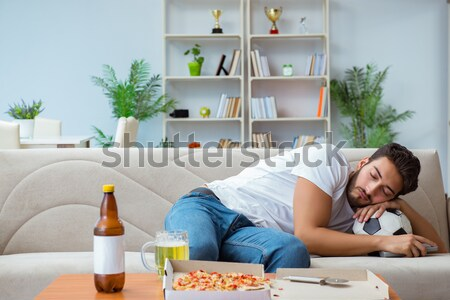 Man suffering from sick stomach and vomiting Stock photo © Elnur