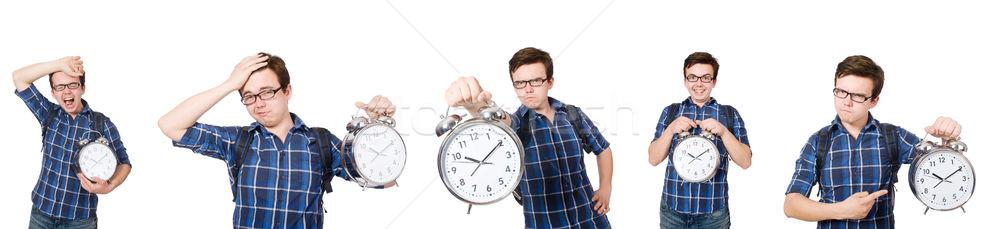 Student vermist studeren deadlines witte glimlach Stockfoto © Elnur