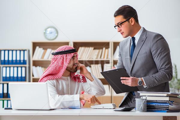 Diverso negocios árabes empresario hombre trabajo Foto stock © Elnur