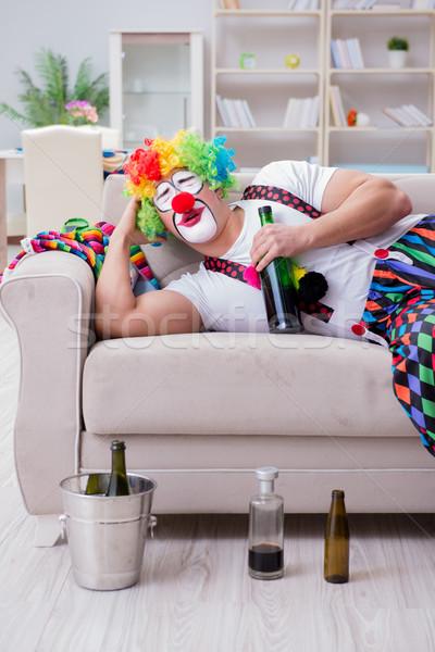 пьяный клоуна вечеринка домой улыбка Сток-фото © Elnur