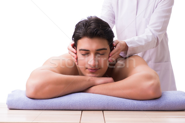 Bel homme spa massage médecin santé beauté Photo stock © Elnur