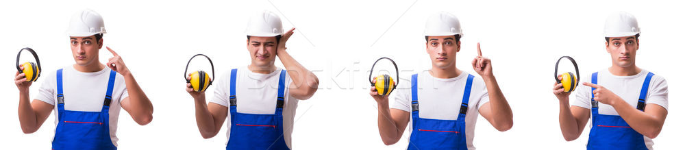 The construction worker isolated on white background Stock photo © Elnur