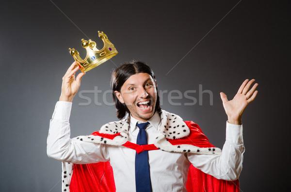 Genç kral işadamı kraliyet adam takım elbise Stok fotoğraf © Elnur