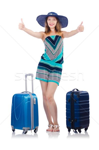 Nő nyári vakáció lány boldog háttér utazás Stock fotó © Elnur