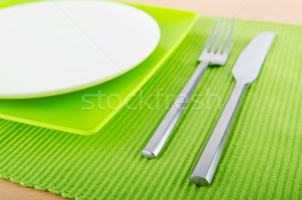 Table setting with knife and fork Stock photo © Elnur