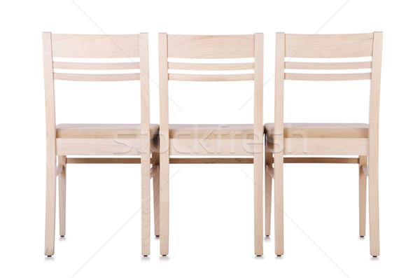 Set sedie isolato bianco ufficio mobili Foto d'archivio © Elnur