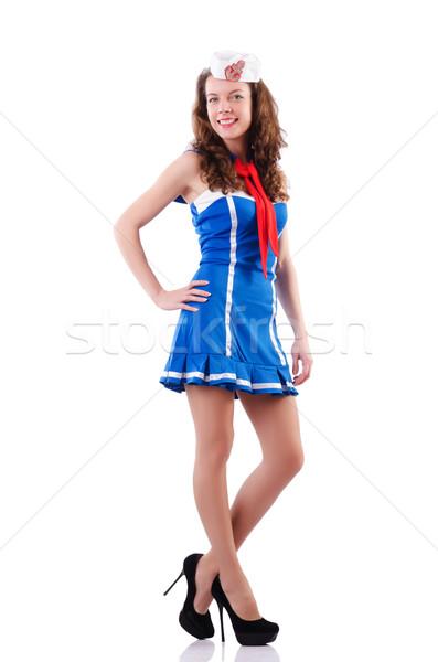 женщину моряк морской улыбка моде лет Сток-фото © Elnur