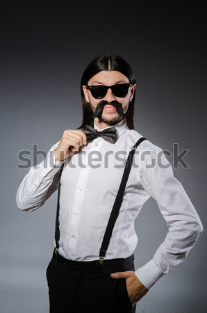 Empresario criminal dinero hombre máscara bolsa Foto stock © Elnur