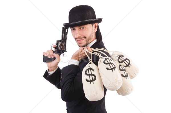 Businessman criminal with sacks of money Stock photo © Elnur