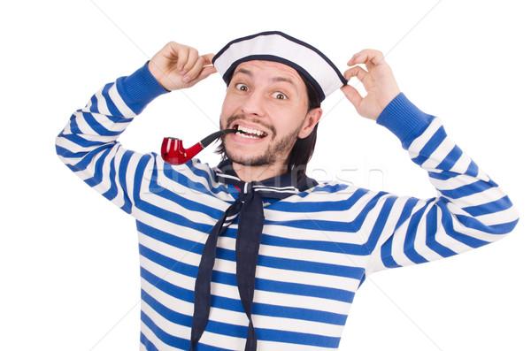 Divertente marinaio isolato bianco faccia mare Foto d'archivio © Elnur