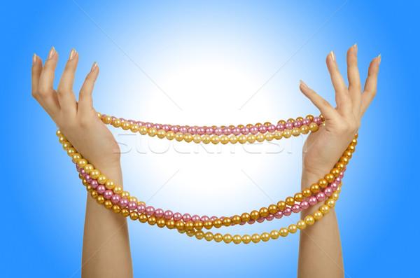 Pearl ожерелье стороны белый аннотация фон Сток-фото © Elnur