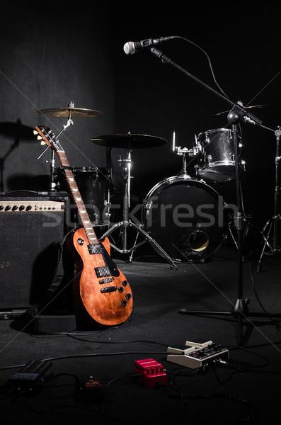 Szett hangszerek koncert zene háttér művészet Stock fotó © Elnur