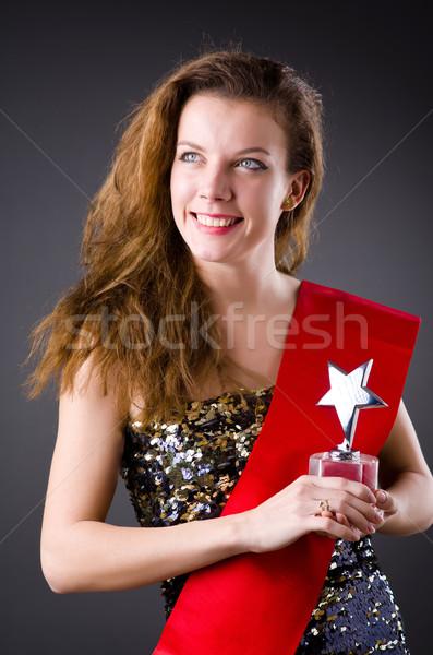 женщину победа красоту конкурс глаза лице Сток-фото © Elnur