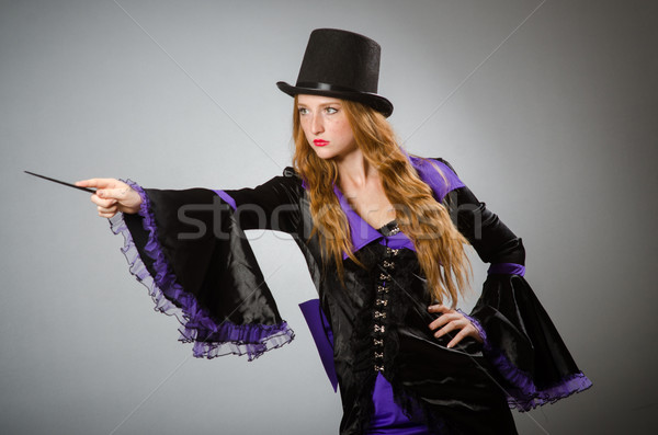 Stock photo: Witch doing her dirty tricks