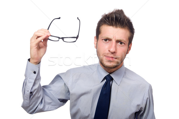 Angry businessman isolated on the white Stock photo © Elnur