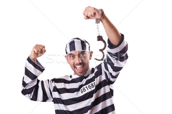 Hapis tutuklu yalıtılmış beyaz adam mutlu Stok fotoğraf © Elnur