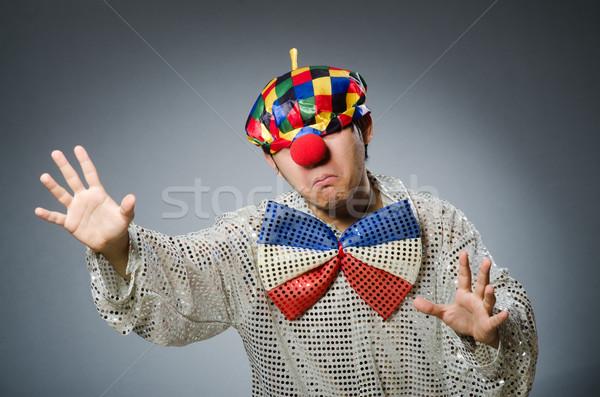 Stockfoto: Grappig · clown · donkere · partij · gelukkig · triest