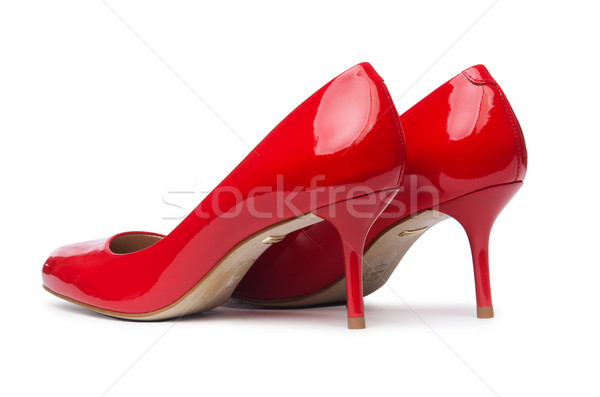 Red woman shoes isolated on the white background Stock photo © Elnur
