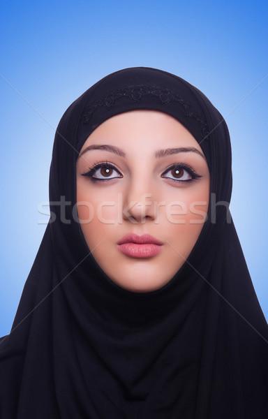 мусульманских хиджабе белый женщину Сток-фото © Elnur