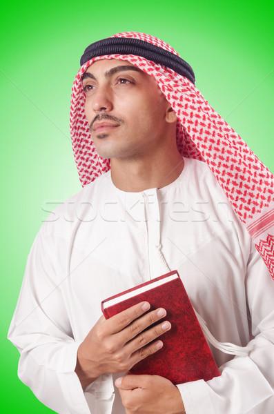 árabes hombre rezando blanco libros estudiante Foto stock © Elnur