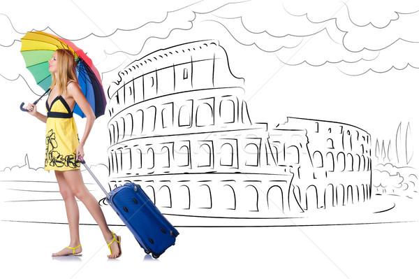 Młoda kobieta Rzym Włochy dziewczyna szczęśliwy Zdjęcia stock © Elnur