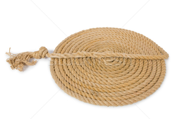 Concept with long hemp rope Stock photo © Elnur