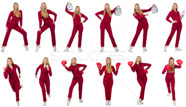 Woman in various sports concepts Stock photo © Elnur