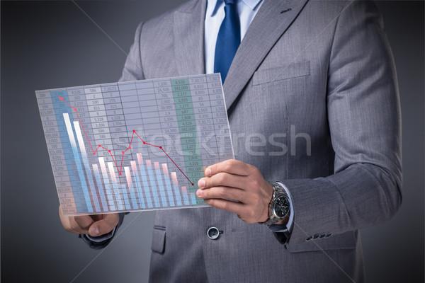 üzletember tőzsde kereskedés pénz internet férfi Stock fotó © Elnur