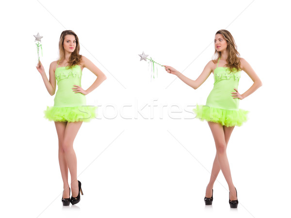 Fairy in light charming dress isolated on white Stock photo © Elnur