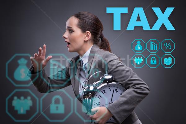 бизнесмен поздно оплата часы время Сток-фото © Elnur