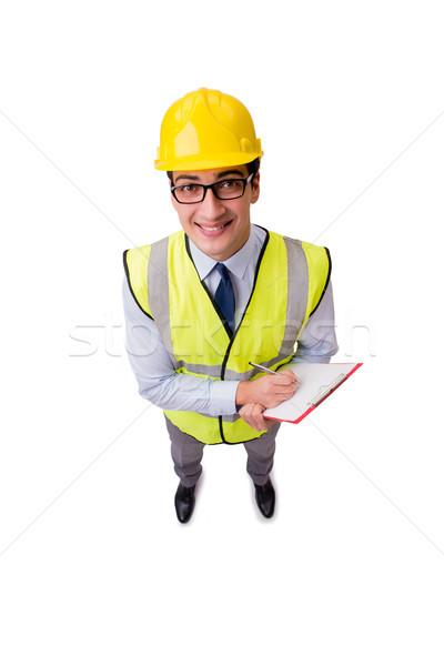 építkezés felügyelő izolált fehér iroda épület Stock fotó © Elnur