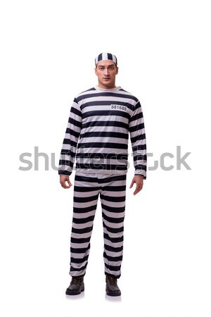 Man prisoner isolated on white background Stock photo © Elnur