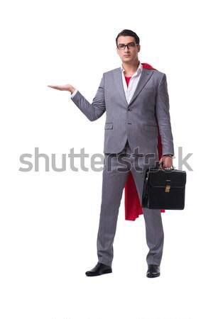 Zakenman geïsoleerd witte business grappig Stockfoto © Elnur
