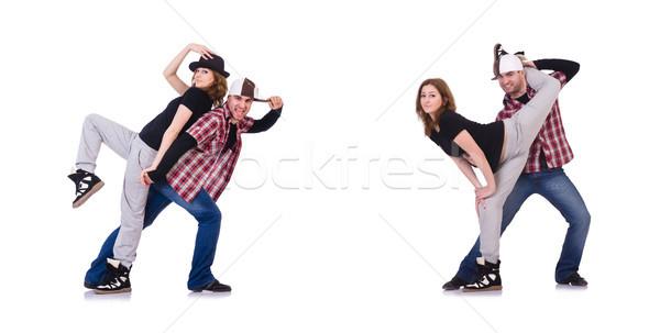 Stockfoto: Paar · dansers · dansen · moderne · vrouw · man