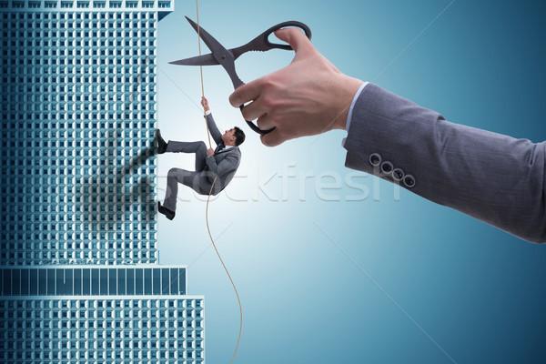 бизнесмен бизнеса риск человека лестницы небоскреба Сток-фото © Elnur