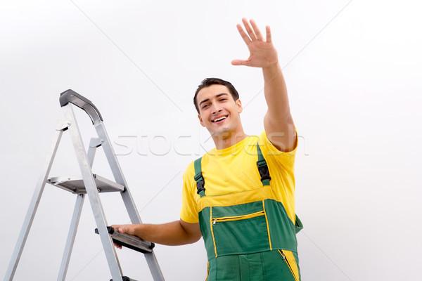 Travailleur de la construction travail sourire construction design Photo stock © Elnur