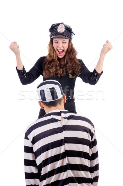 Stock fotó: Rendőrség · börtön · bennlakó · fehér · férfi · törvény
