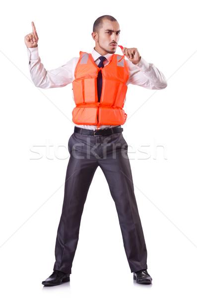 Empresário resgatar branco escritório feliz Foto stock © Elnur
