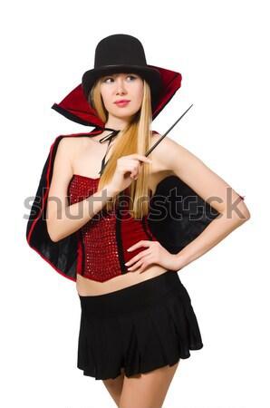 Stock fotó: Fiatal · nő · izolált · fehér · lány · szexi · modell