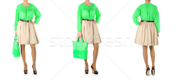 Fashion concept with dress sets on white Stock photo © Elnur