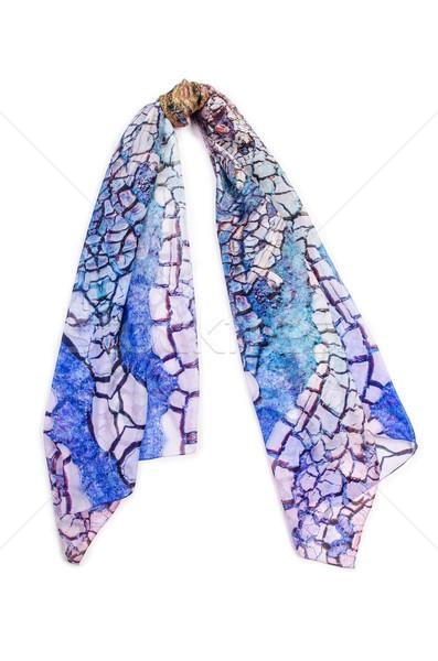 Szalik odizolowany biały tle zimą tkaniny Zdjęcia stock © Elnur